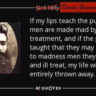 Ned Kellys words were often lies